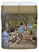 Old Tucson Graveyard Duvet Cover