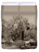 Old Tucson Landscape  Duvet Cover