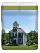 Old Two Room School House Duvet Cover