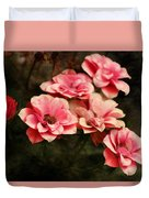 Old Victorian Fuchsia Pink Rose Duvet Cover
