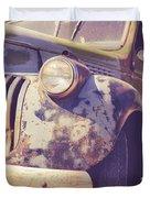 Old Vintage Pickup Truck Utah Square Duvet Cover
