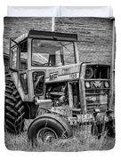 Old Vintage Tractor On A Farm In New Hampshire Square Duvet Cover