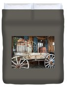 Old Wagon And Barrell Duvet Cover