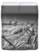 Old Wagon, Jackson Hole Duvet Cover