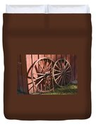 Old Wagon Wheels Duvet Cover