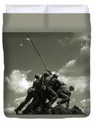Old Washington Photo - Iwo Jima War Memorial Duvet Cover