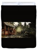 Old Watermill In The Forest Duvet Cover