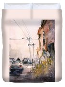 Old Wautoma Hotel Duvet Cover by Ryan Radke
