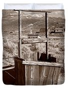 Old Well Bodie Ghost Twon California Duvet Cover