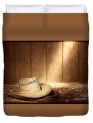 Old West Farmer Hat Duvet Cover