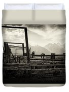 Old West Relics Duvet Cover