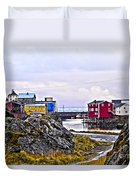 Old Whaling Village Nyksund Duvet Cover