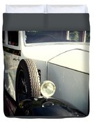 Old White Rolls Duvet Cover