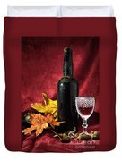 Old Wine Bottle Duvet Cover by Carlos Caetano