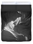 Old Woman In The Canyon Black And White Duvet Cover