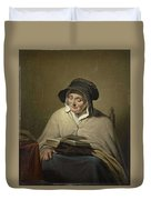 Old Woman Reading, Cornelis Kruseman, 1820 - 1833 Duvet Cover