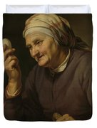 Old Woman Selling Eggs, 1632 Duvet Cover