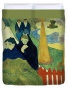 Old Women Of Arles Duvet Cover