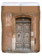 Old Wood Door - France Duvet Cover
