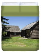 Old Wood House,russia Duvet Cover by Atul Daimari
