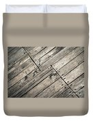 Old Wooden Boards Nailed Duvet Cover