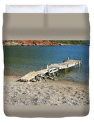 Old Wooden Dock Duvet Cover