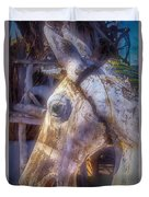 Old Wooden Horse Head Duvet Cover