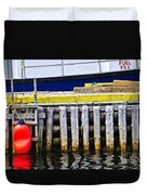 Old Wooden Pier In Newfoundland Duvet Cover