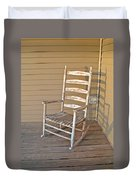 Old  Wooden  Rocking  Chair Duvet Cover