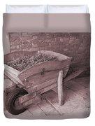 Old Wooden Wheelbarrow Duvet Cover