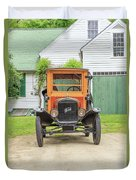 Old Woodie Model T Ford  Duvet Cover