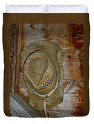 Old Work Hat Duvet Cover