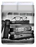 Old World Books Duvet Cover
