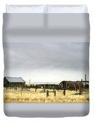 Old Wyoming Farm Duvet Cover