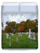 Old Yard Cemetery Stowe Vermont Duvet Cover