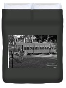 Old Ybor City Trolley Duvet Cover