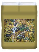 Old Yellow Birch Duvet Cover