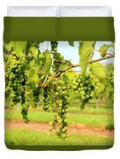 Old York Winery Grapes Duvet Cover