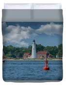 Oldest Lighthouse In Michigan Duvet Cover