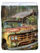 Oldie But Goodie 1959 Dodge Pickup Truck Duvet Cover