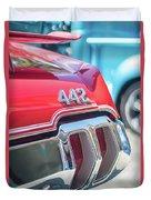 Olds 442 Classic Car Duvet Cover