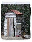 Oldtime Outhouse - Digital Art Duvet Cover