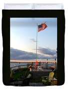 Ole Glory At Rossetti Point  Duvet Cover
