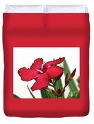 Oleander Blood-red Velvet 2 Duvet Cover