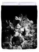 Oleander Flowers In Black And White 2 Duvet Cover
