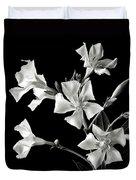 Oleander In Black And White Duvet Cover