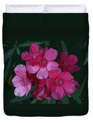Oleanders In Pink Duvet Cover