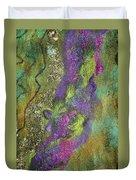 Olive Garden With Lavender Duvet Cover