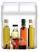 Olive Oil,salad Dressing And Vinegar Duvet Cover