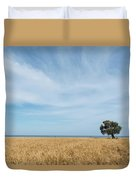 Olive Tree On The Wheat Field  Duvet Cover